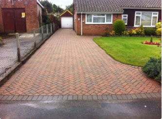 Driveway after cleaning in Edinburgh
